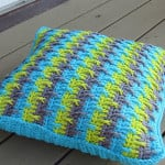Textured Throw Pillow Cover ~ Crochet Dreamz