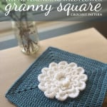 "The Never Ending Wildflower 12"" Granny Square ~ Rebecca Langford - Little Monkeys Crochet"