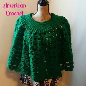 Paddy Cake Poncho ~ American Crochet