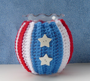 Patriotic Jar Cozy ~ Whiskers & Wool