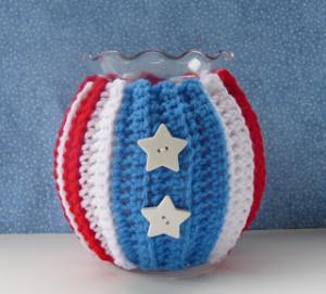 Patriotic Jar Cozy ~ Whiskers & Wool