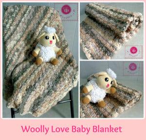 Crochet Wooly Love Baby Blanket ~ Maz Kwok's Designs