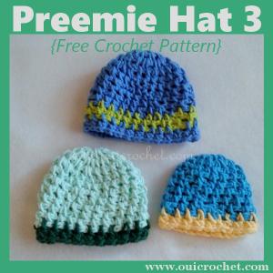 Preemie Hat 3 - Three Sizes ~ Oui Crochet
