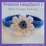 Preemie Headband 1 ~ Oui Crochet