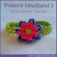 Preemie Headband 3 ~ Oui Crochet