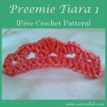 Preemie Tiara 1 ~ Oui Crochet