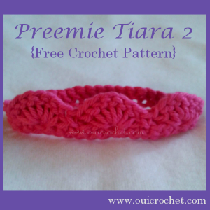 Preemie Tiara 2 ~ Oui Crochet