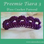 Preemie Tiara 3 ~ Oui Crochet