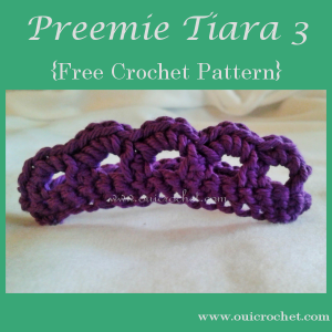 Preemie Tiara ~ Oui Crochet