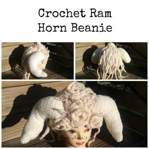 Ram Horn Beanie ~ Knot Your Nana's Crochet