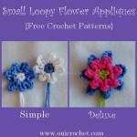 Small Loopy Flowers Appliques ~ Oui Crochet