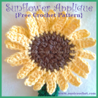 Sunflower Applique ~ Oui Crochet