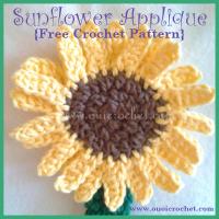 Sunflower Applique ~ Oui Crochet