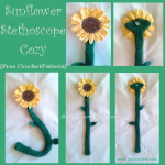 Sunflower Stethoscope Cozy ~ Oui Crochet