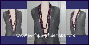 Twilight Sparkle Beaded Necklace ~ Sara Sach - Posh Pooch Designs