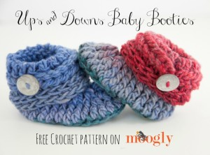 Ups and Downs Baby Booties ~ Moogly