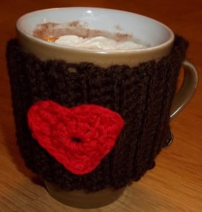 Hug in a Mug - Valentine Mug Cozy ~ Lucy 'In the Sky'