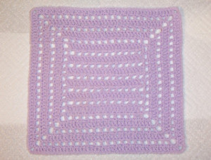 """A Whole Lotta Holes 12"""" Square ~ SmoothFox Crochet and Knit"""