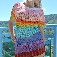 Angel Sleeve Crochet Tunic ~ Jane Green – Beautiful Crochet Stuff