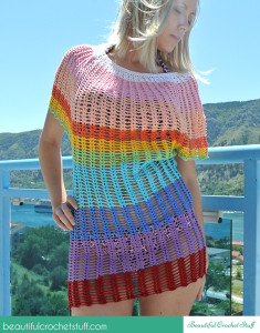 Angel Sleeve Crochet Tunic ~ Jane Green - Beautiful Crochet Stuff