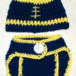 Crochet Baby 0- 3 Months Football Hat and Diaper Cover ~ Amy – Crochet Jewel