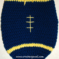 Baby Newborn Football Cocoon ~ Crochet Jewel