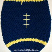 Baby Newborn Football Cocoon ~ Crochet Jewel