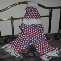 Barbara's Red, White and Blue Scarf and Hat ~ Crochet 'N' More