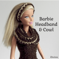 Simple Striped Headband and Cowl for Barbie ~ Rhelena - CrochetN'Crafts