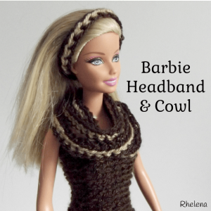 Simple Striped Headband and Cowl for Barbie ~ Rhelena - CrochetN'Crafts