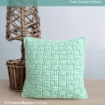 12″ Basketweave Throw Pillow ~ Rebecca Langford – Little Monkeys Crochet
