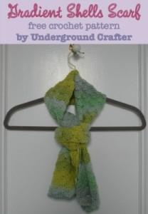 Gradient Shells Scarf ~ Underground Crafter