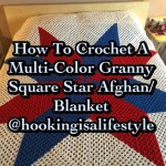 How to Crochet A Multi-Color Granny Square Star Afghan ~ Hooking is  a Lifestyle