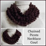 Chained Picots Necklace Cowl ~ Rhelena - CrochetN'Crafts