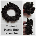 Chained Picots Hair Scrunchie ~ Rhelena – CrochetN'Crafts