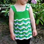 Tropical Waves – Lacy Chevron Top For Little Girls ~ My Hobby is Crochet