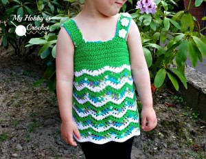 Tropical Waves - Lacy Chevron Top For Little Girls ~ My Hobby is Crochet