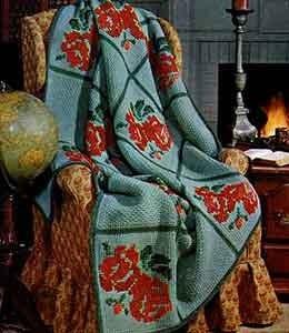 Bed of Roses Afghan ~ Free Vintage Crochet