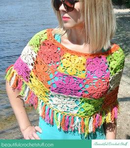 Crochet Summer Poncho ~ Jane Green - Beautiful Crochet Stuff