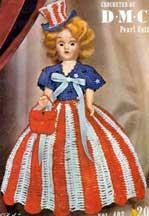 Miss U.S.A. Doll Pattern ~ Free Vintage Crochet