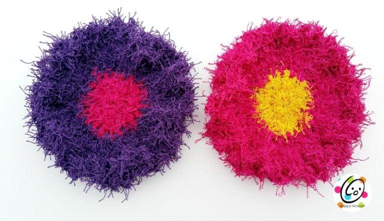 Free Crochet Patterns For Scrubby Yarn : Scrubby Flower Dots ~ FREE Crochet Pattern