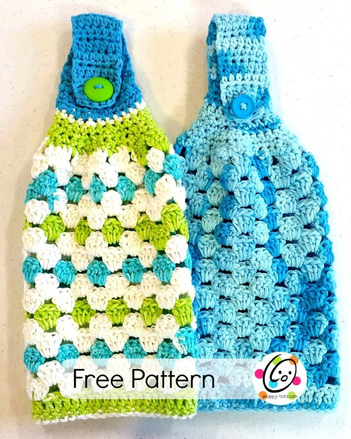 Free Crochet Patterns For Kitchen Towel Holders : Hanging Towel ~ FREE Crochet Pattern