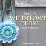 Little Girl's Wildflower Purse ~ Rebecca Langford – Little Monkeys Crochet