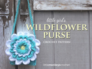 Little Girl's Wildflower Purse ~ Rebecca Langford - Little Monkeys Crochet