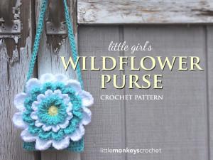 Little Girl's Wildflower Purse ~ Rebecca Langford - Little Monkeys Crochet