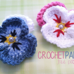 Pansy Flower ~ Rebecca Langford – Little Monkeys Crochet