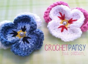 Pansy Flower ~ Rebecca Langford - Little Monkeys Crochet
