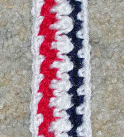 Patriotic Bookmark ~ Crochet N More