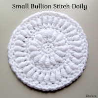 Small Bullion Stitch Doily ~ Rhelena - CrochetN'Crafts