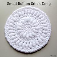 Small Bullion Stitch Doily ~ Rhelena – CrochetN'Crafts